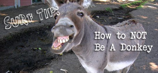 Surf Tip: How NOT To Be A Donkey 1