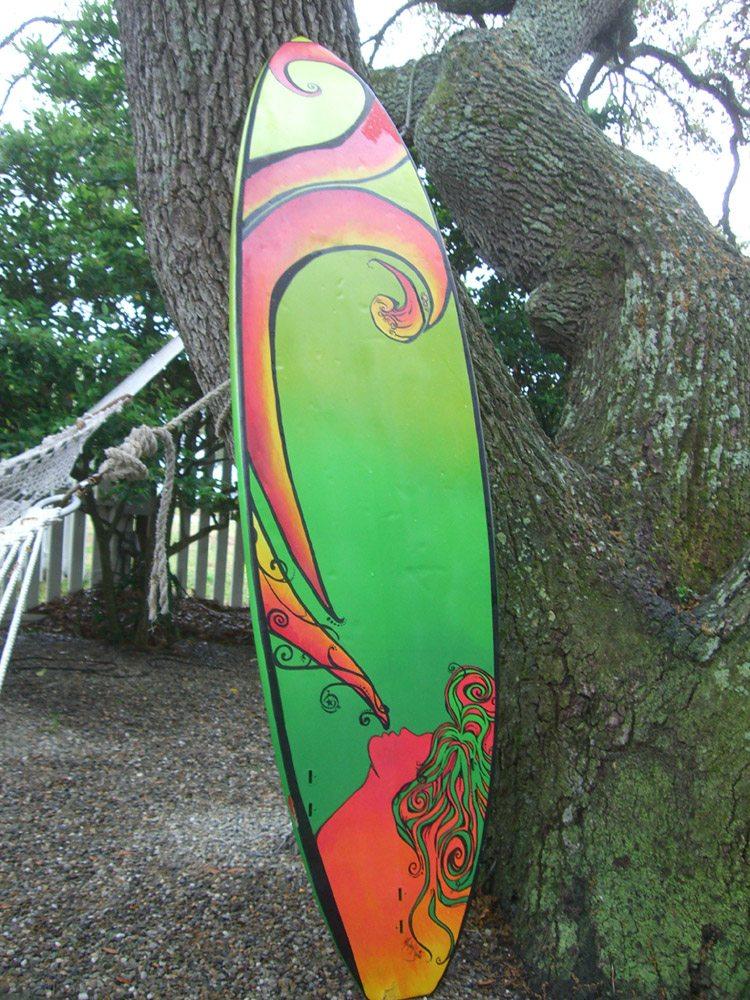Mickey June's Surfboard Art 2