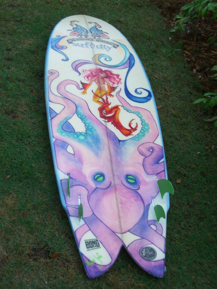 Mickey June's Surfboard Art 4