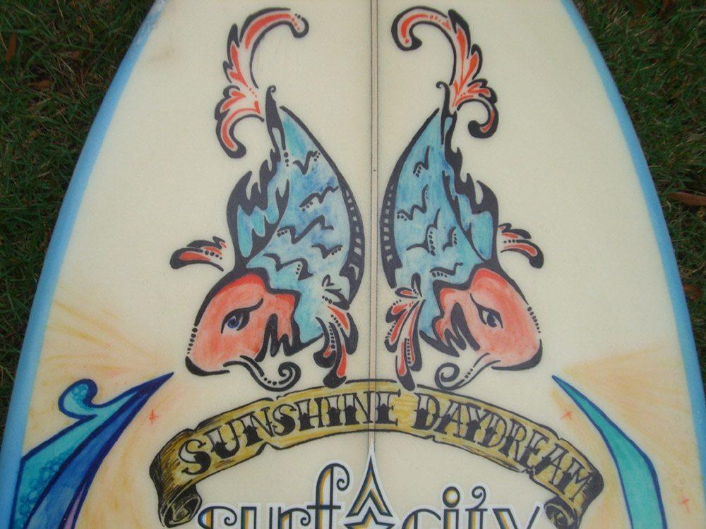 Mickey June's Surfboard Art 5
