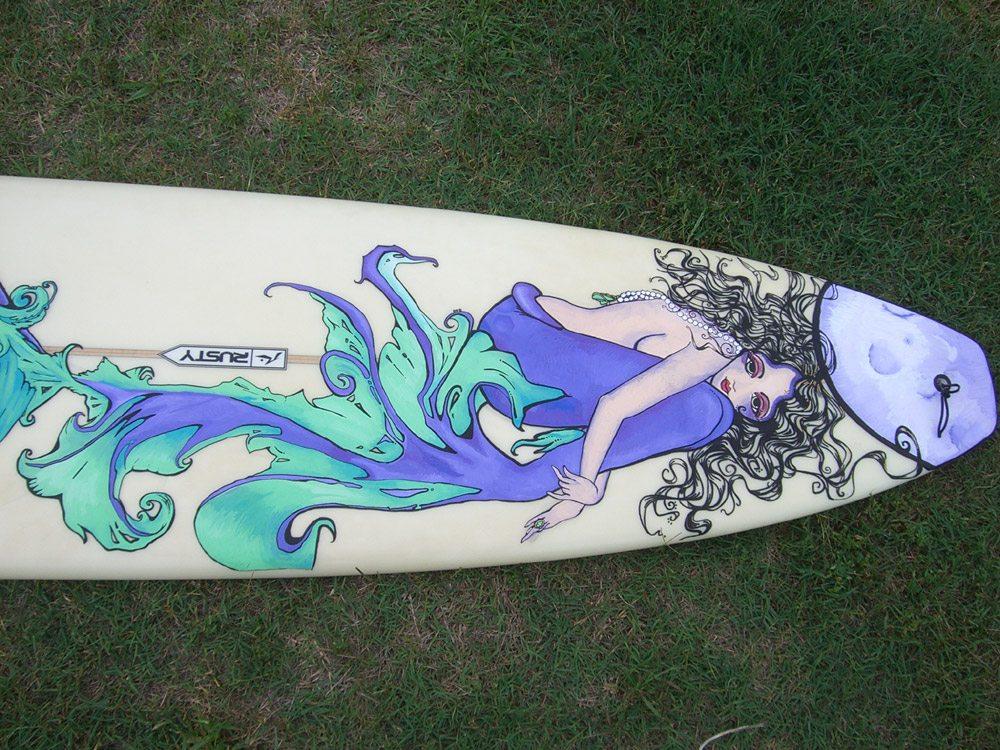 Mickey June's Surfboard Art 1