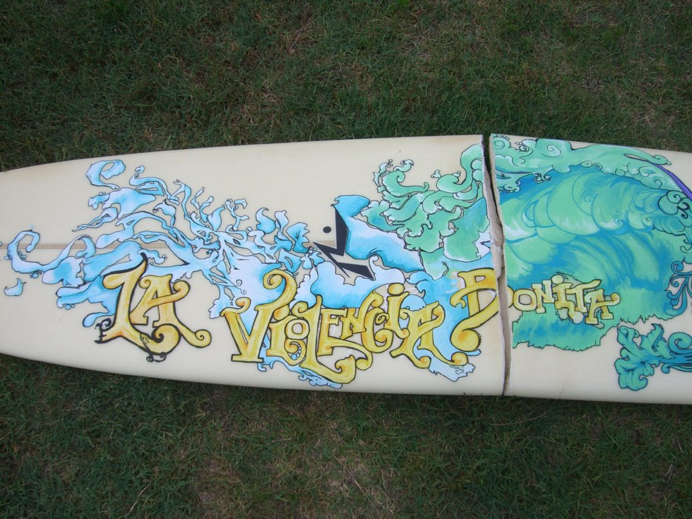 Mickey June's Surfboard Art 6